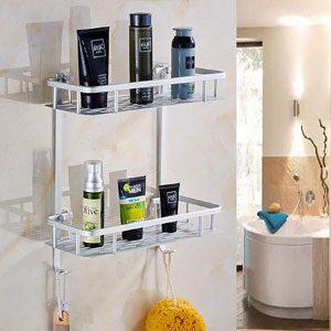 Estantería de baño y la decoración